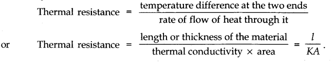 thermal resistance of a body